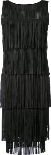 Pleats Please By Issey Miyake Fringed Shift Dress Women Polyester 2, Black