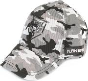 Camouflage Cap Men Cottonpolyester One Size, Grey