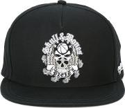 Skull Embroidered Cap Men Cotton One Size