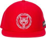 Tiger Baseball Cap Men Cottonpolyester One Size, Red