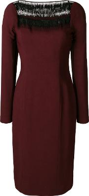 Fitted Midi Dress Women Polyesterspandexelastaneviscose
