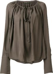 Gathered Tie Fastened Blouse