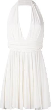 Halter Neck Plunge Dress Women Spandexelastaneviscose 36, White