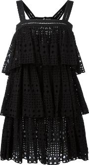 Layered Dress Women Cotton 38, Black