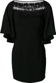 Plein Sud Embroidered Shift Dress Women Polyesterspandexelastaneviscose 38, Black