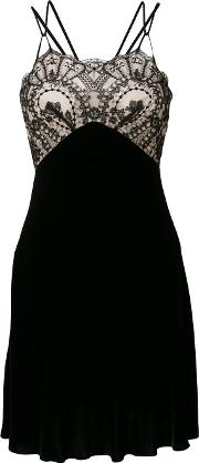 Plein Sud Lace Embroidered Shift Dress Women Silkcottonpolyamideviscose 42, Black