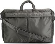 Porter Yoshida & Co Glossy Zip Up 'tanker 2' Briefcase Unisex Nylon One Size, Grey