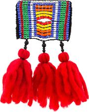 1961 Button Beaded Wool Tassel Brooch