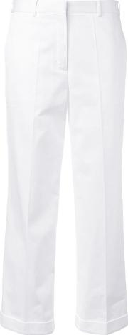 1961 Cropped Trousers Women Cotton 38, White