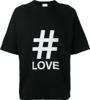 1961 Everlast Love Print T Shirt Men Cottonpolyurethane S, Black