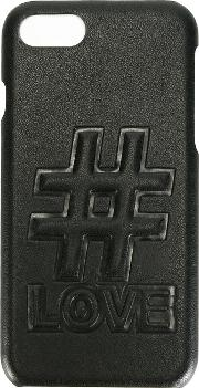 1961 Love Iphone 7 Case Men Calf Leather One Size, Black