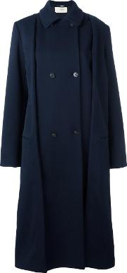 1961 Oversized Coat Women Cottonpolyamidespandexelastanewool 38, Blue