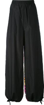 1961 Printed Back Trousers Women Silkcotton 42, Black