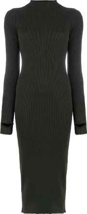 1961 Ribbed High Neck Sweater Dress
