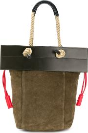 1961 Rope Handle Flap Tote Bag