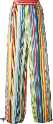 1961 Striped Palazzo Trousers Women Cotton 42