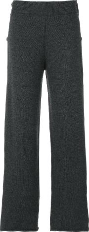 Ports 1961 Knitted Trousers Women Cashmerewool S, Grey