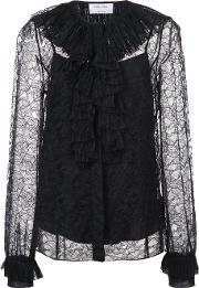 Pleated Lace Blouse