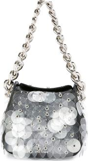Layered Sequins Chained Tote