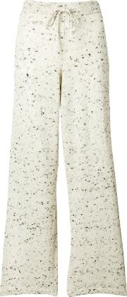 Pringle Of Scotland Salt And Pepper Knitted Trousers Women Polyesterwool Xs