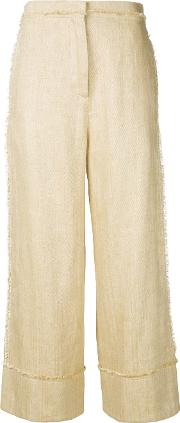 Turn Up Wide Leg Trousers