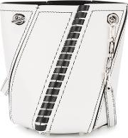 Hex Bucket Bag Women Leather One Size, Women's, White