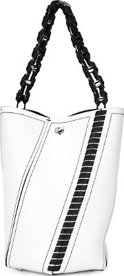 Hex Whipstitch Bucket Bag Women Leather One Size, Women's, White