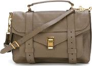 Medium 'ps1' Satchel Women Leather One Size, Women's, Grey