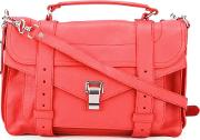 Medium Ps1 Satchel Women Leather One Size, Women's, Red