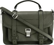 Ps1 Medium Satchel Women Calf Leather One Size, Green