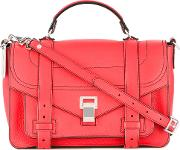 Ps1 Satchel Women Leather One Size, Women's, Red