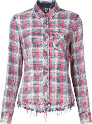 Checked Shirt Women Cottonrayon M, Red