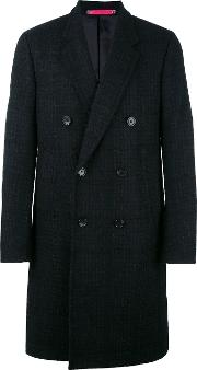 Double Breasted Coat Men Nylonpolyesterviscosepolyacrylic Xl, Black