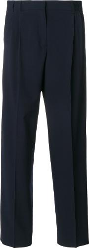 Ps By Paul Smith High Waisted Tailored Trousers Women Viscosewool 38, Blue