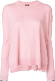 Ps By Paul Smith Long Sleeved Knitted Sweater Women Wool S, Pinkpurple
