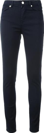 Skinny Trousers Women Cottonspandexelastane 30, Blue