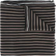 Striped Scarf Men Silkviscose One Size, Brown