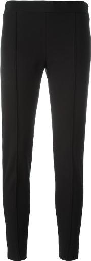 Tailored Cropped Trousers Women Cottonspandexelastaneacetateviscose 44, Women's, Black
