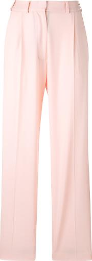 Wide Leg Trousers Women Viscosewool 38, Pinkpurple