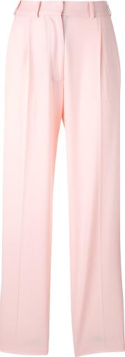Wide Leg Trousers Women Viscosewool 44, Pinkpurple