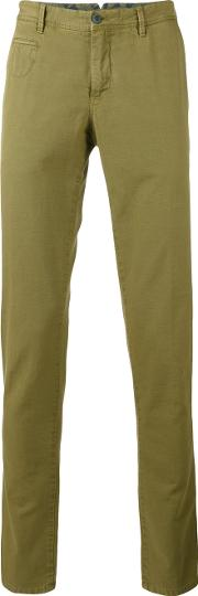 Illustrated Chino Trousers Men Cottonlinenflax 50, Green