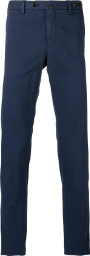 Slim Fit Chino Trousers Men Cottonspandexelastane 48, Blue