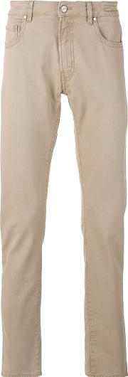 Plain Chinos Men Cottonspandexelastane 32, Nudeneutrals