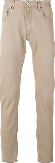Pt05 Plain Chinos Men Cottonspandexelastane 32, Nudeneutrals
