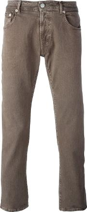 Slim Fit Chinos Men Cottonspandexelastane 35, Brown