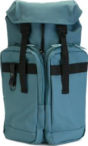 Utility Backpack Men Polyesterpolyurethane One Size, Blue