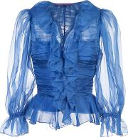 Ruffled Ruched Blouse