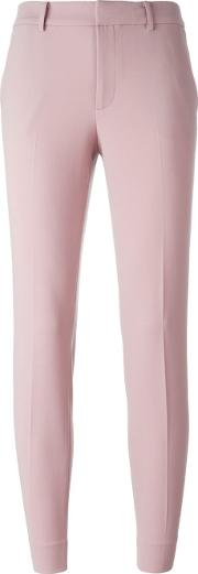 Straight Trousers Women Spandexelastanewool 2, Women's, Pinkpurple