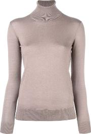 Turtleneck Jumper Women Nyloncashmere L
