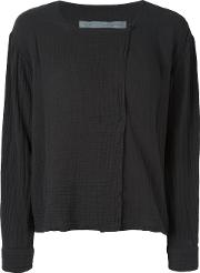 Boxy Day Blouse Women Cotton 3, Women's, Black